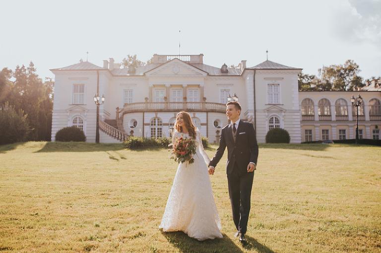 Pałac Radziwiłów sesja ślubna