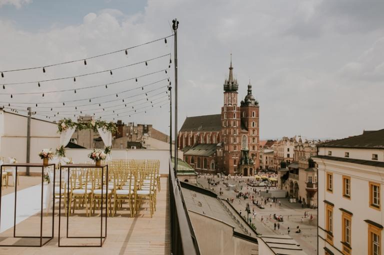 Ślub na dachu Hotelu Starego