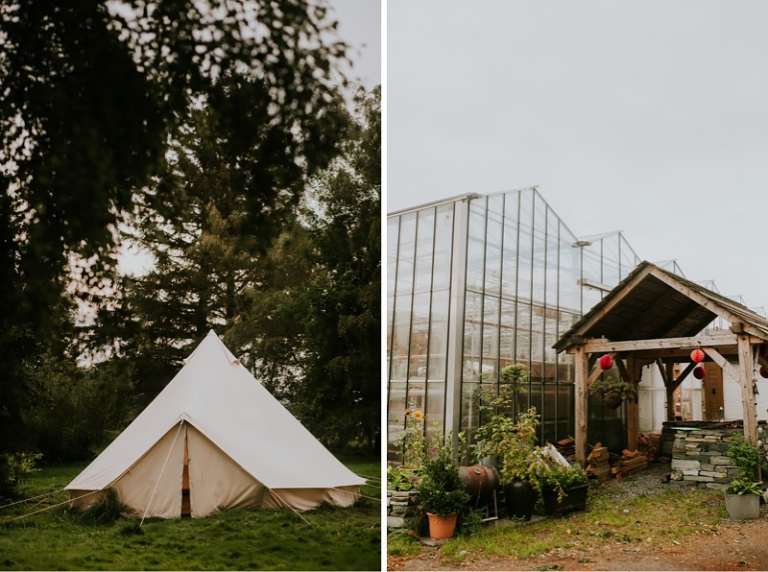 Greenhouse wedding Norway Alchemilla
